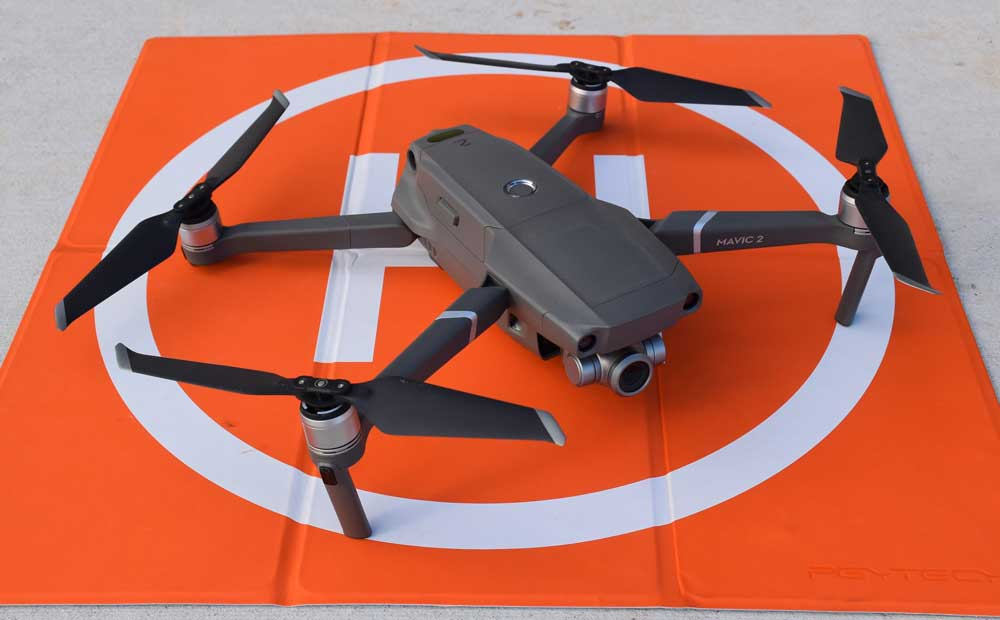 drone on landing pad